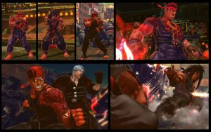 SF X TEKKEN Ryu as Evil Ryu trilogy pack by monkeygigabuster