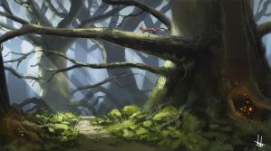 Kitty Cat Forest by DBdantalion