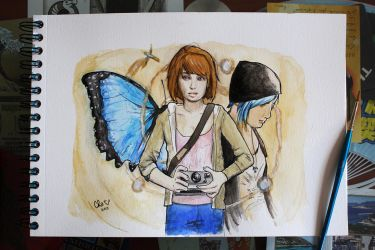 Life is strange - fanart - watercolors by Red-Cha