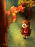 Mabel Pines and Jake by AndyFireLife