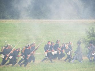 Hradec Kralove: Prussians charging Jeagers by Siveir