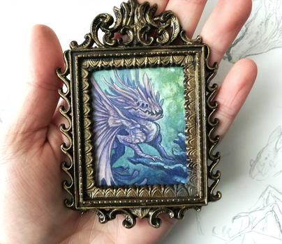 Framed mini painting - Bad Faerie by thedancingemu