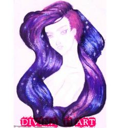 Universe girl W.I.P.# 5 by Divina-H-ART