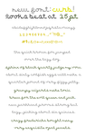 Curb Font by zara-leventhal