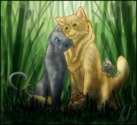 Lionheart and Bluestar by quloxi