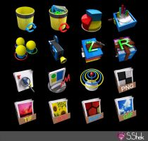 3D icons part 2 by Shek0101