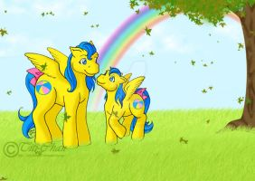 MLP : Bouncy Family by Titi-Chan35