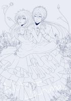 Nutrire l'anima: When Flowers Bloom :Lineart: by whitty-boo