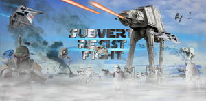 SUBVERT! RESIST! FIGHT! Starwars Twitter Banner by GBRIELGRY