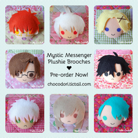 Mystic Messenger Plushie Brooches by VioletLunchell