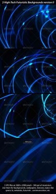 3 High Tech Futuristic Networks Backgrounds 2 by danfleites