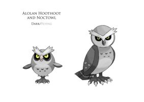 Alolan Hoothoot and Noctowl 2