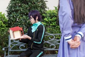 Hiyori Gives Yato a Shrine, Noragami Cosplay by firecloak