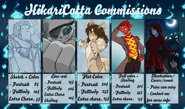 Commission Price Chart ::read description:: by HikariCotta