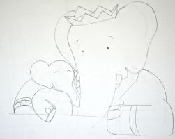 Babar and Alexander Sketch by elephanza