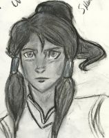 korra charcoal by campHB2010