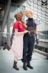 Let's go for a Date! Aerith x Cloud by AiridAndKaitoCosplay