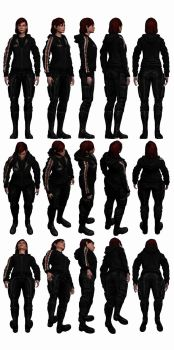 Mass Effect 3, Female Shepard N7 Hoodie Reference. by Troodon80