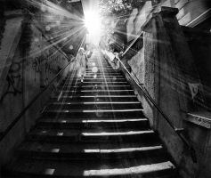 stairs of light by Trifoto