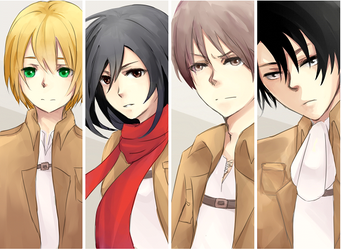 Attack on Titan Bookmarks by Dingalinda