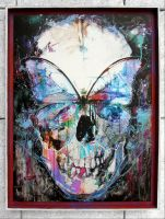 Butterfly Skull Framed by ART-BY-DOC
