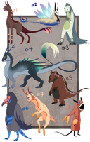 ASSORTED ADOPTABLES - Points or Cash OPEN by Wyrmin