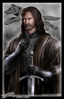Eddard Stark holding Ice by Amok by Xtreme1992