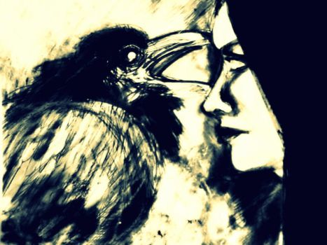 A lady and a bird by lilibloom24601