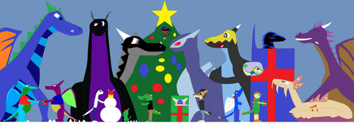 Chirstmas With My Freinds by GamerDragon165