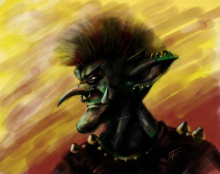 Punk Goblin by masterfulmind