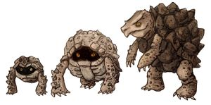 Geodude, Graveler, and Golem