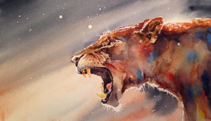Jaguar Water Colour by fourquods