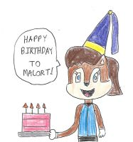 Sally Acorn - Happy Birthday Malort by dth1971