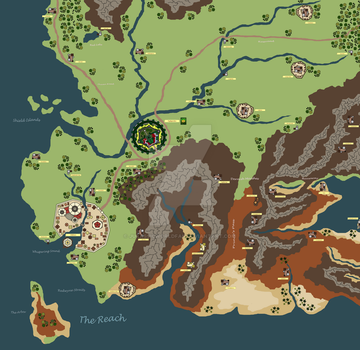 Westeros Map: The Reach by JurassicWorldFan