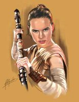 Rey of Jakku by aerlixir