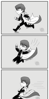 Why Kaiba has kneepads in DSoD by murasaki-rose