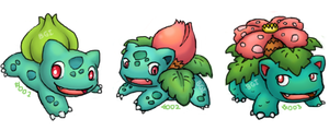 Bulbasaur Family by ConstantSoliloquy
