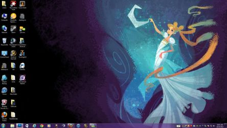 Serenity on the Moon Desktop by lilena