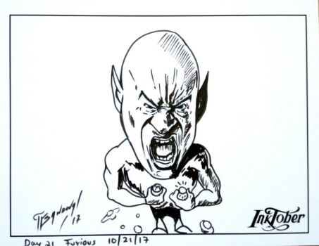 Day 21 Furious #inktober2017 by franklinsh