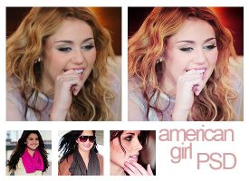 Psd american girl. by MyloveRobsten