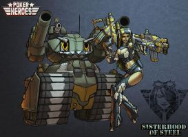 POKER HEROES: Sisters of Steel The Assault 01 by billydallaspatton