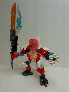 Bionicle Fire and Ice Villager by E-Matt