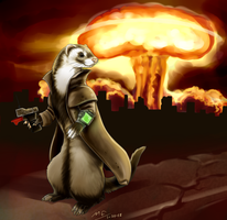 Fallout Ferret by Moody-Ferret