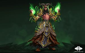 ...Commission: Blood Elf Demon Hunter... by ShadowPriest