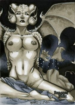 Succubus Dungeon Dolls Sketch Card by RichardCox