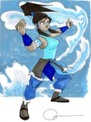 Korra color by wapsisquare