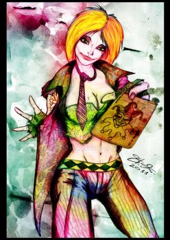 Duela Dent - Joker's daughter by SaintYak
