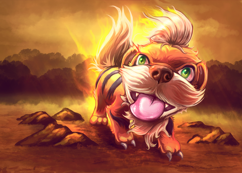 Growlithe Pup by Chrishankhah