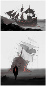 DH Pirate AU: Bloodflies by coupleofkooks