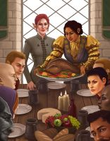 Inquisition Thanksgiving by Rachel-Perciphone